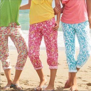 🌴 Lilly Pulitzer Chum Bucket Cotton Pants